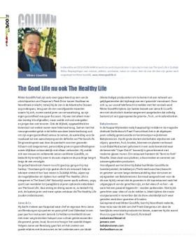 Mister Goodlife's column: The Good Life = The Healthy Life