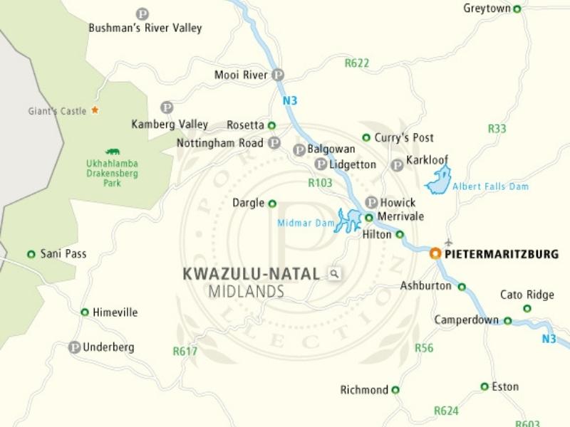 kaart-midlands-meander-kwazulu-natal-zuid-afrika