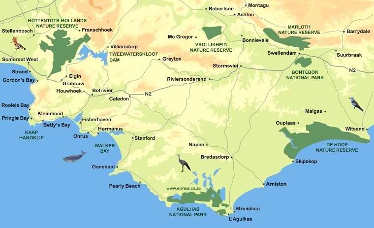 kaart-overberg-district-zuid-afrika
