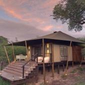 Safari in een tented lodge
