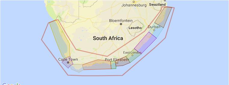 surf-kaart-zuid-afrika