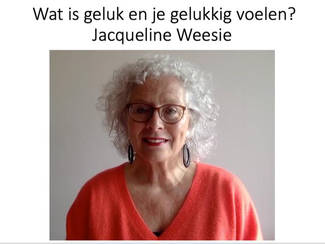 Wat is geluk Jacqueline Weesie