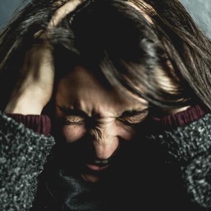 Vrouw met stress en angst