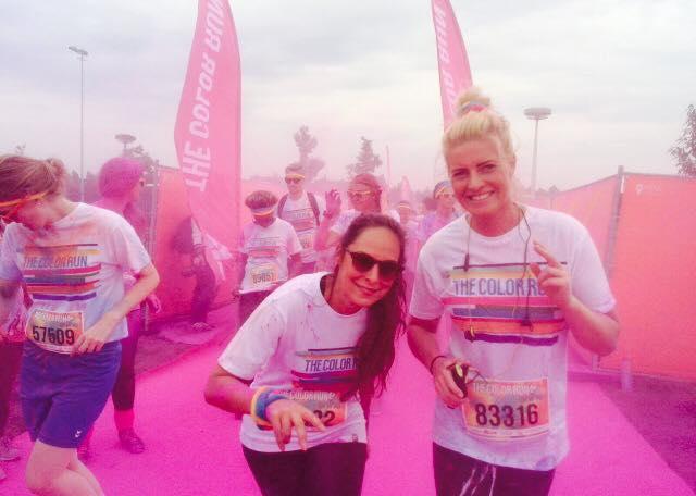Dani en Susanne op een roze wolk :).
