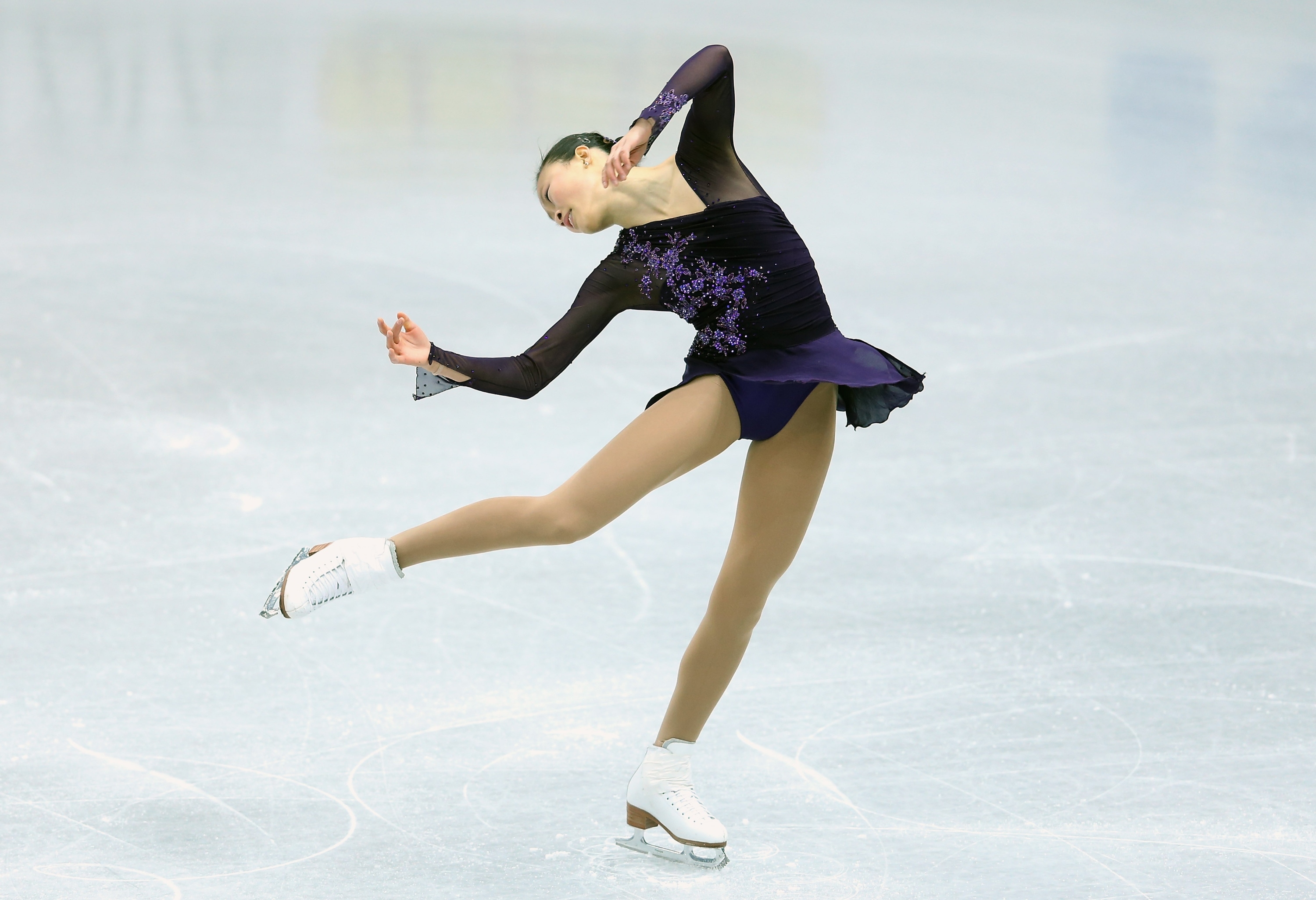 SOCHI, RUSSIA - DECEMBER 07: Christina Gao of USA performs in the Ladies Short Program during the Grand Prix of Figure Skating Final 2012 at the Iceberg Skating Palace on December 7, 2012 in Sochi, Russia. (Photo by Julian Finney/Getty Images)