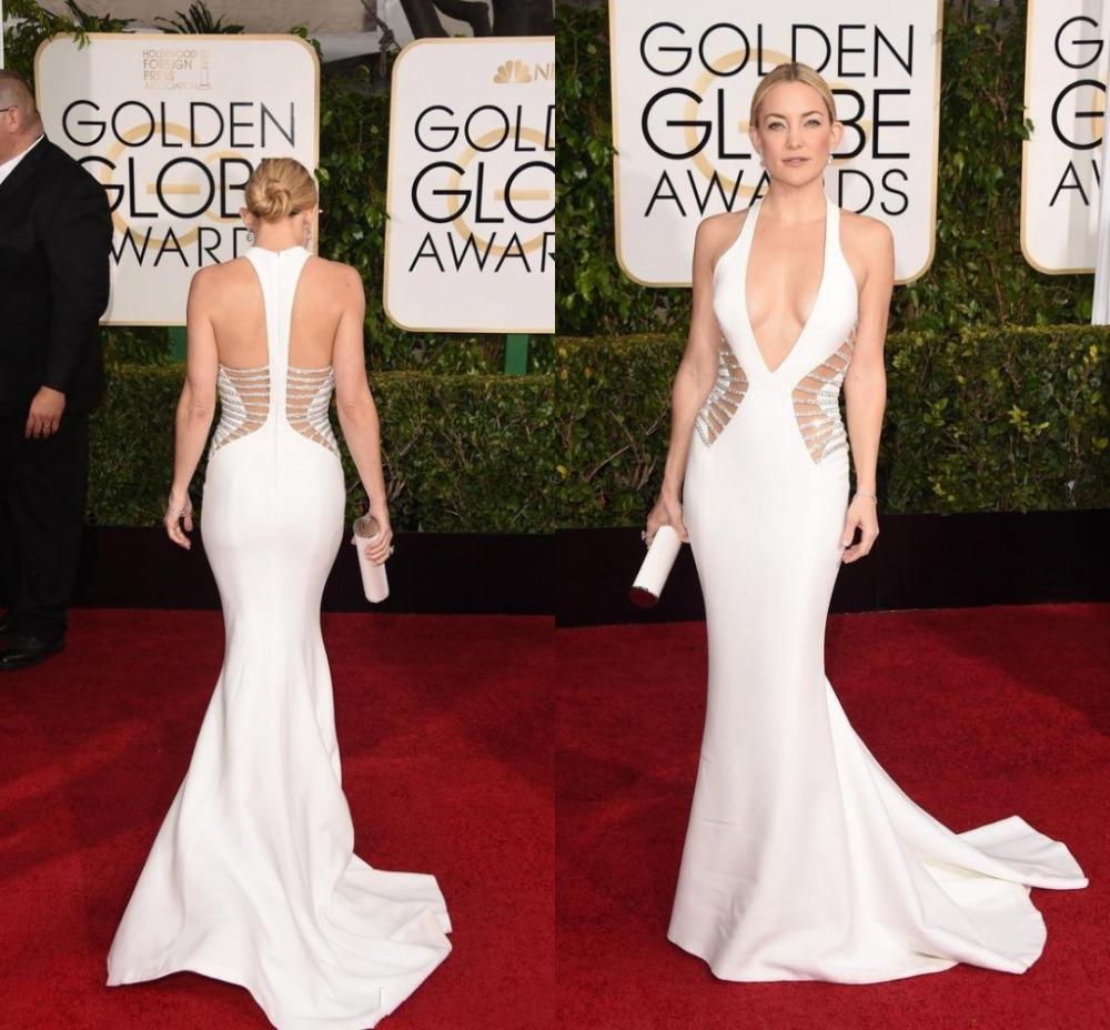 Kate-Hudson-Sexy-Celebrity-Dresses-2015-72nd-Golden-Globe-Awards-White-Mermaid-Satin-Evening-Gowns-Hot