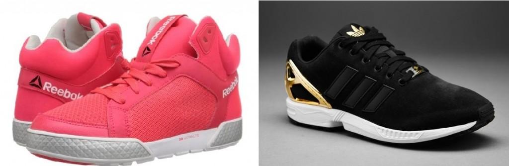 sneakers Reebok en Adidas