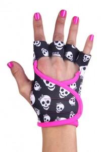 skulls pink piping