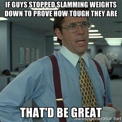 Stop slamming weights