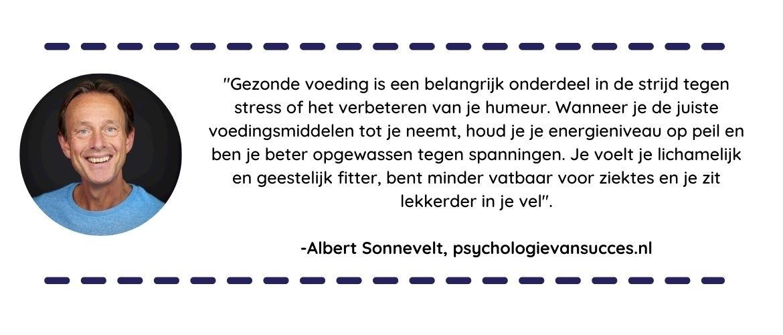 Albert Sonnevelt over gezonde voeding