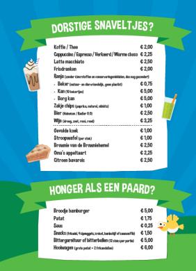 menukaart flierefluiter