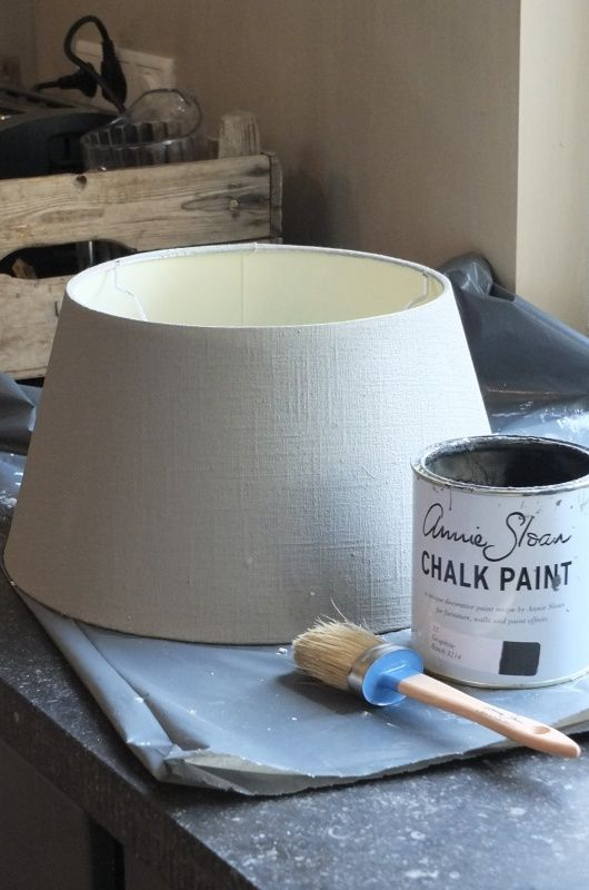 lampenkap chalk paintjpg