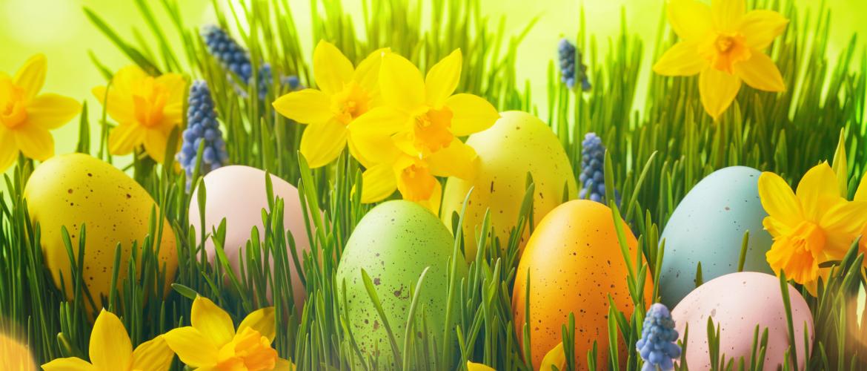 Bloemen met Pasen