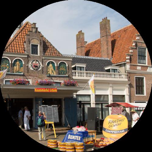 Edam cheese market in Summer