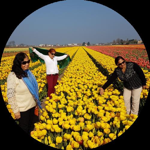 Happy-faces-in-flowering-Tulip-field