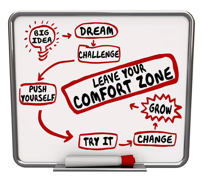Het leven begint buiten je comfortzone