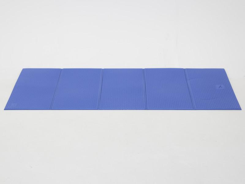 Fitness mat blauw opvouwbaar