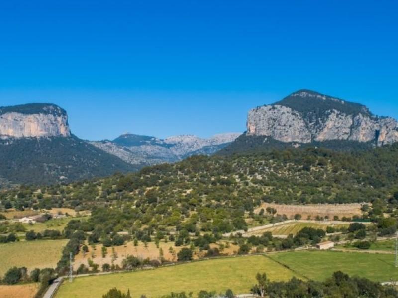 Uitzicht vanaf de villa in Mallorca