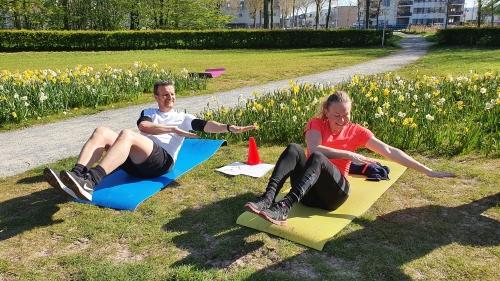Buiten groepstraining Zoetermeer met Fysio Maaike