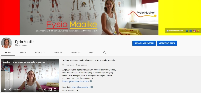 Fysio Maaike op YouTube