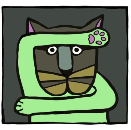 Willeke Trooster grafische katten