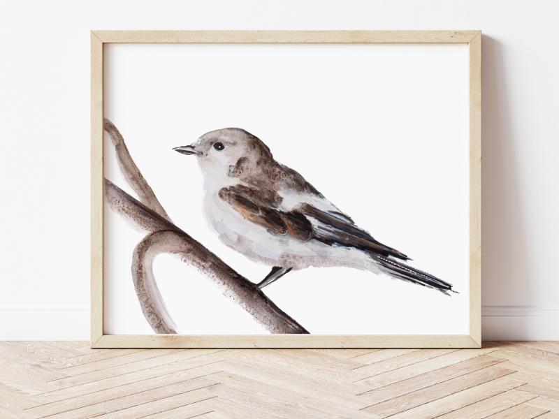 vogel in aquarelverf Angela Peters