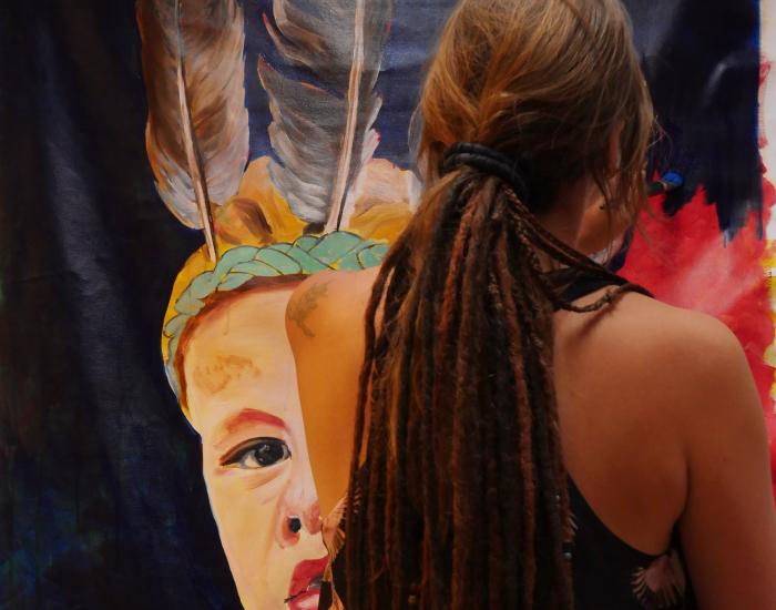 Beeldende Kunst van Angela zelf en van kunstenaars uit de regio