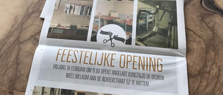 In de Hattemer krant Opening Angelart Kunst&Zo