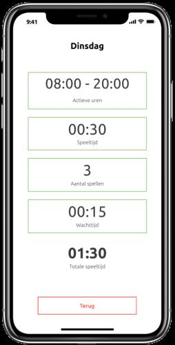 Gametimer App Weekschema