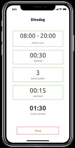 Met de Gametimer app krijgt u inzicht in de gespeelde schermtijd en voorkomt u beeldscherm verslaving