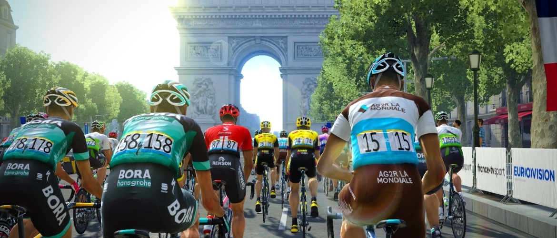 Tour de France fiets door de franse steden