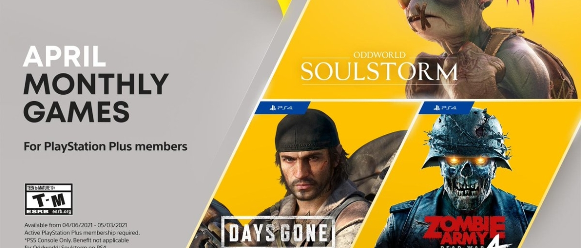 Playstation plus games maand April