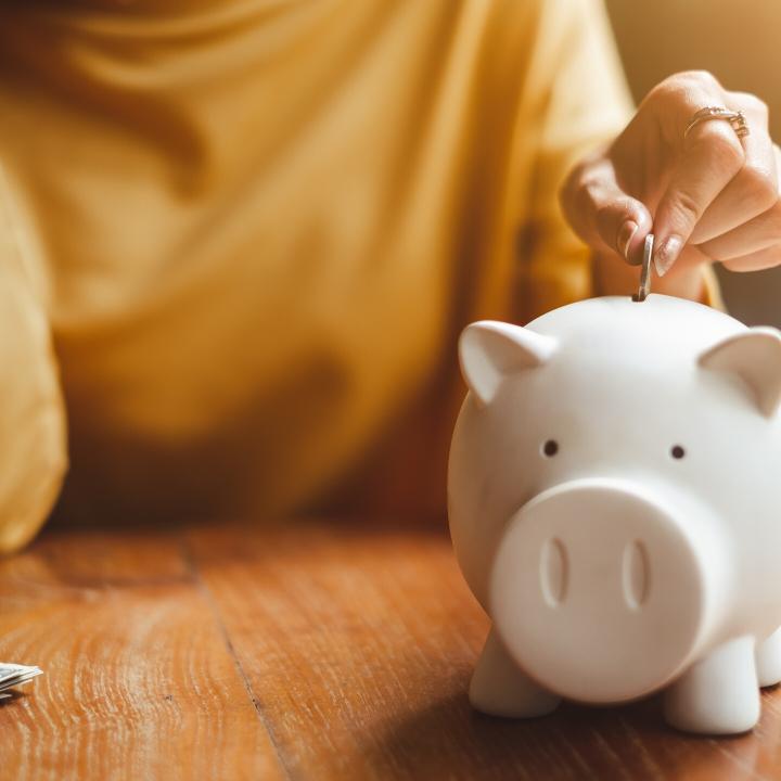 Gezond uitgavepatroon vrouw leren budgetteren
