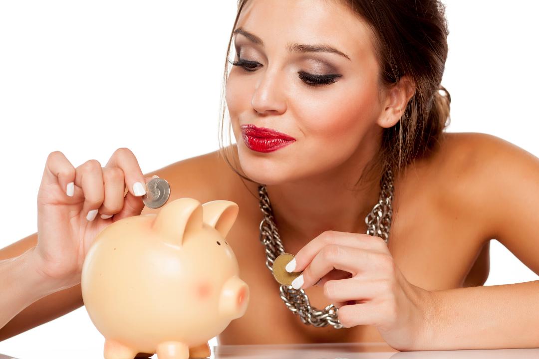 Ambitieuze vrouw en beleggen financieel geld en geluk