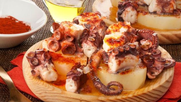 Spaanse octopus pulpo a la gallega