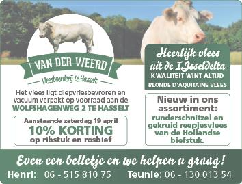 Advertentie Vleesboerderij van der Weerd