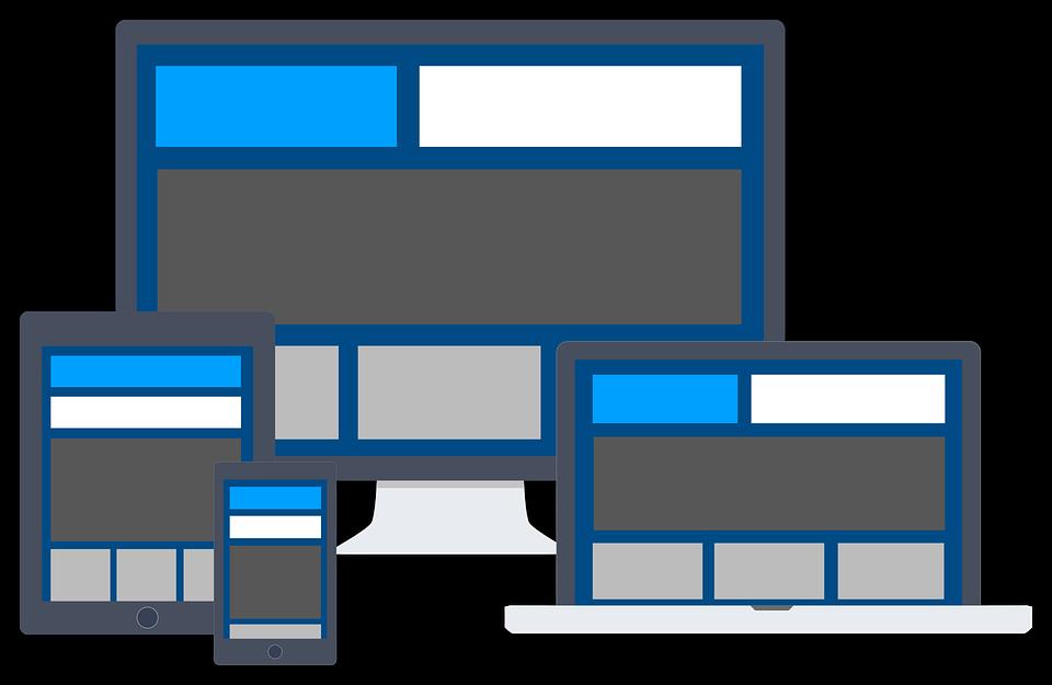 Voorbeeld van een website die leesbaar is op allerlei apparaten
