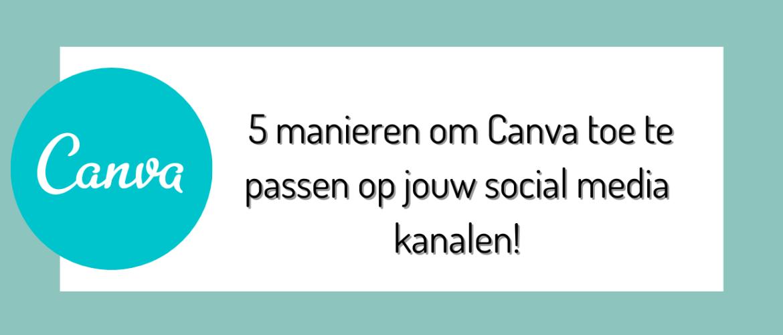 Gebruik Canva voor je social media posts!