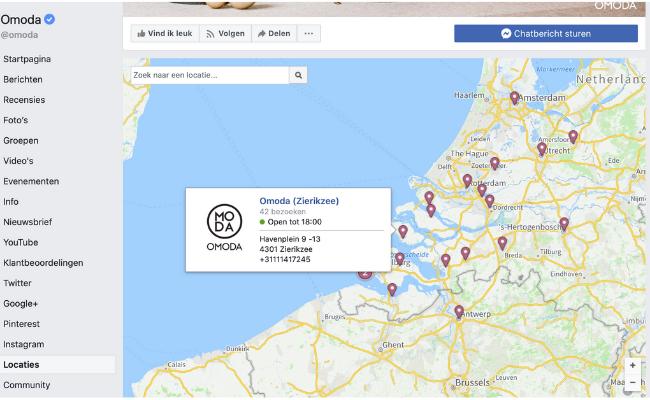 diverse locaties facebook omoda overzicht