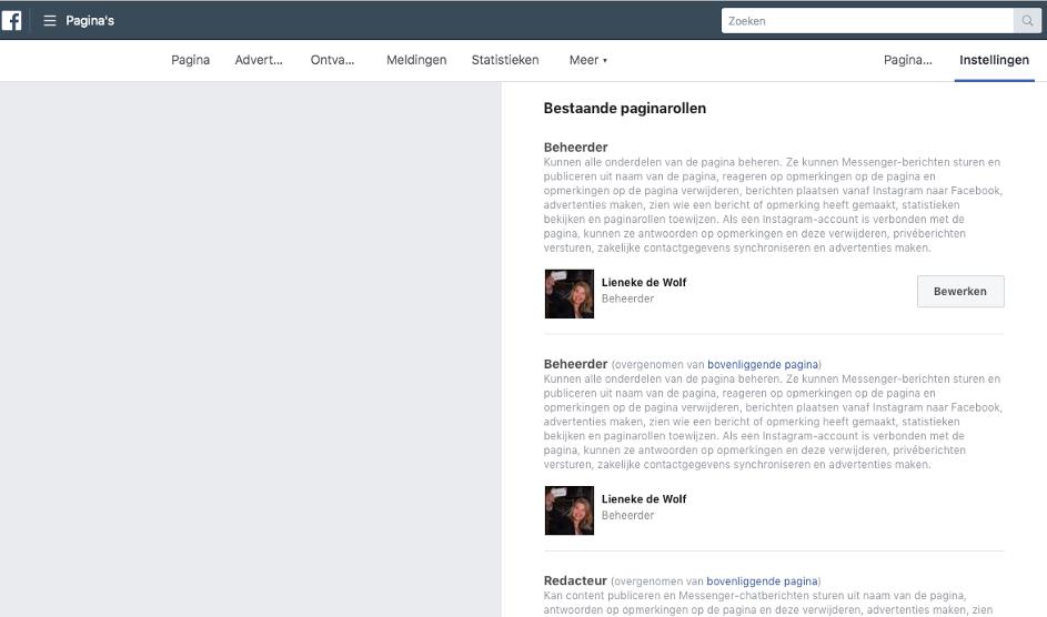 paginarollen facebook locaties