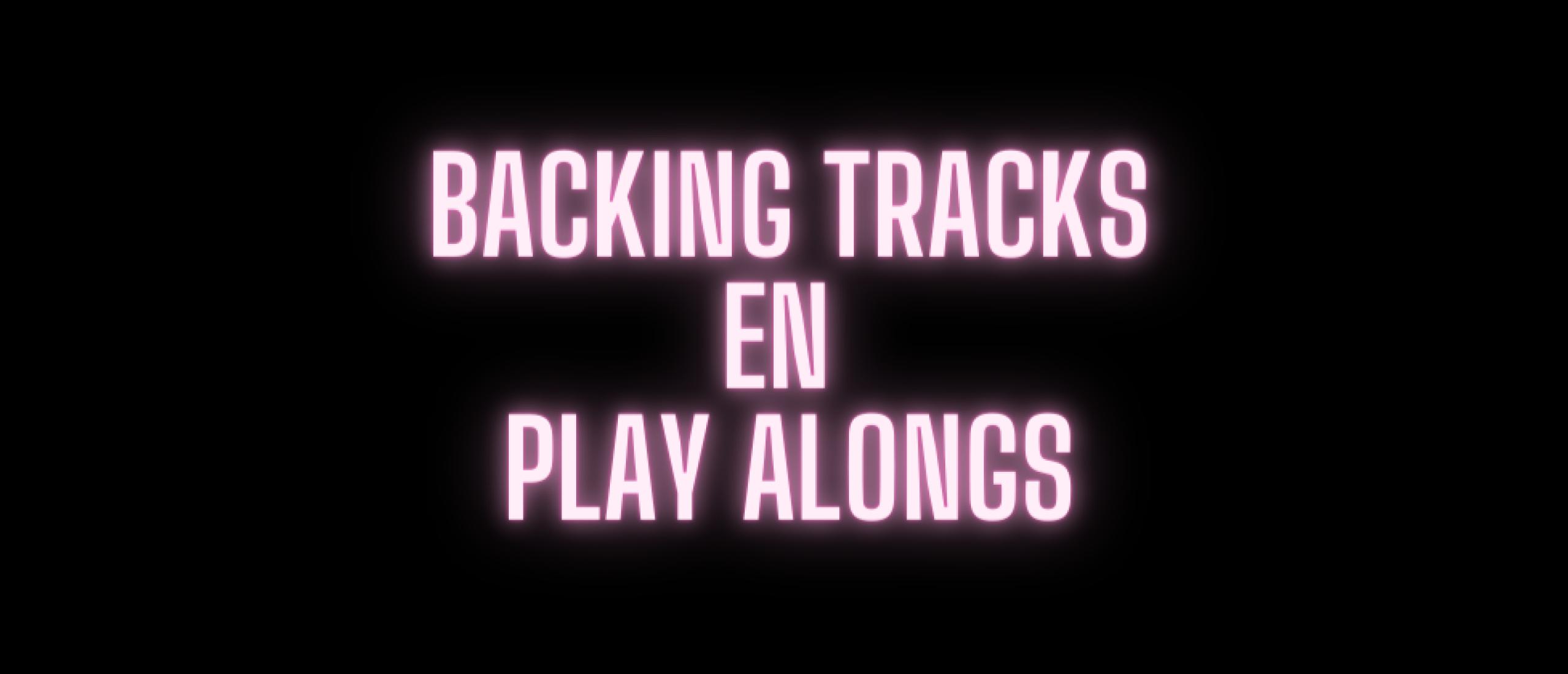 Gitaar akkoorden meespelen met backing tracks en play alongs