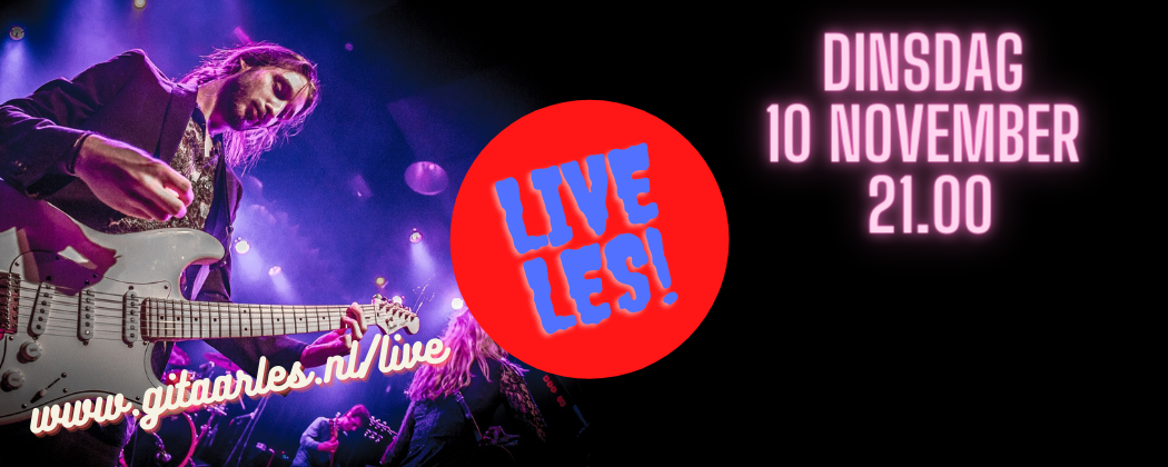 Live online gitaarles dinsdag 10 november