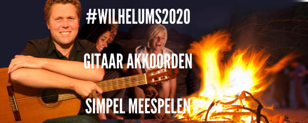 Wilhelmus met simpele gitaar akkoorden mee spelen met het concertgebouw orkest