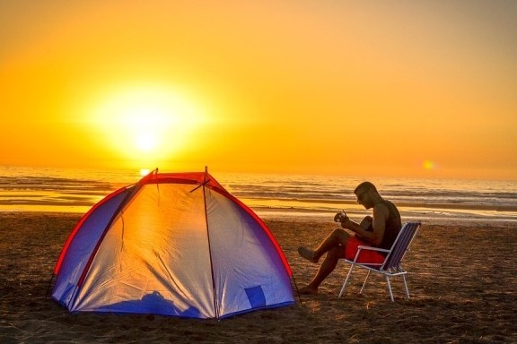 gitaarmuziek op camping