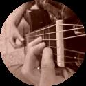 gitaar F akkoord zijaanzicht
