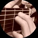 gitaar E akkoord zijaanzicht
