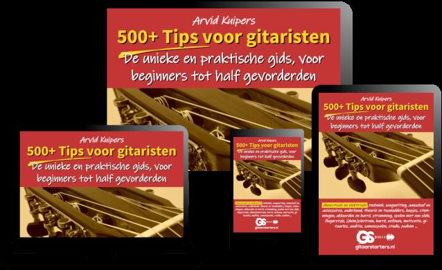 500 gitaartips E-boek voor PC, tablet en smartphone