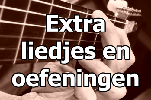 Gitaarcursus extra liedjes en oefeningen