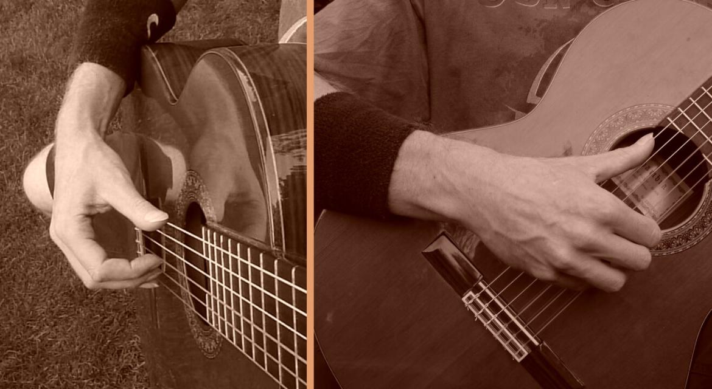 klassieke gitaarhouding rechterhand en onderarm