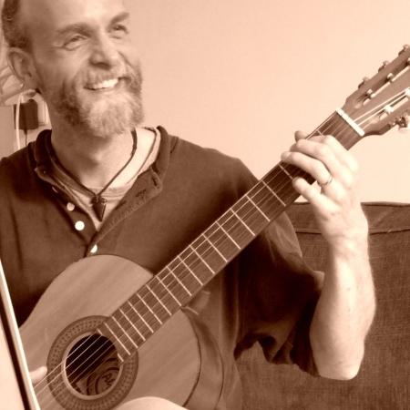 Foto van gitaar plezier
